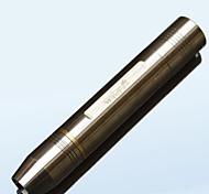 acier inoxydable troisième engrenage rechargeable blanc lampe de poche lumière jaune