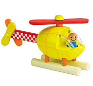 Yellow Helicopter Wooden Magnetic Building Toy