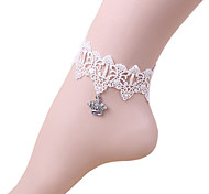 White Crown Lace Anklet
