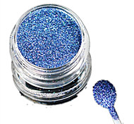 1 Bottle Nail Art Laser Beautiful Light Blue Glitter Shining Powder Manicure Makeup Decoration Nail Beauty L10