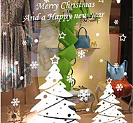 Static Stickers Christmas Snowman Christmas Supplies Glass Decorative Wall Stickers Shop Window Stickers Amj001