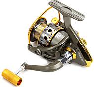 Carretes para pesca spinning 5.5/1 10 Rodamientos de bolas Intercambiable Pesca de baitcasting / Pesca en General-JC5000 Daxinuo