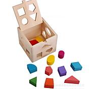 forma de caixa de inteligência de madeira brinquedos educativos brinquedos para crianças de treze buracos emparelhado com crianças