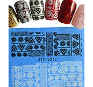 Nail Art Nail Sticker Vollständige Nail Tips / Lace-Aufkleber / Nail Schmuck