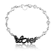 Party Dress Love Black and Silver Fashion Jewelry Bracelet for Girl