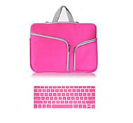 верхняя продавая сплошной цвет холста молния мешок с крышкой клавиатуры для MacBook 13.3 сетчатки глаза