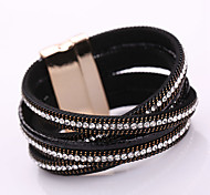 Fashion Trendy  Multi drill Bracelet Ms Korea velvet set auger alloy magnetic clasp bracelets #YMG1081