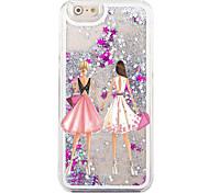 arrière Circuler Quicksand liquide Other PC Dur Fashion Girl Couverture de cas pour Apple iPhone 6s/6
