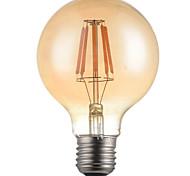6W E26/E27 Ampoules à Filament LED G95 6 LED Haute Puissance 500lm lm Blanc Chaud Décorative AC 100-240 V 1 pièce
