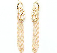 Gold Plated Alloy Fashion Tassels Line Gold Jewelry Wedding Party Daily Casual Sports 1 pair