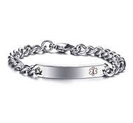 Simple Fashion Medical Sign Stainless Steel Bracelet