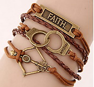Coffee Wrap Leather Bracelet