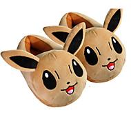 bolsillo pequeño monstruo con eevee oídos Kigurumi pijamas zapatillas calientes con collar y el apoyo de talón 28cm