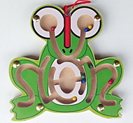 A Small Wooden Labyrinth Magnetic Brush The Frog