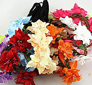 Butterfly Flower Hair Ribbon Sea Beach Bride Bridesmaid Jewelry Wreath