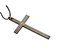 los hombres negros de la personalidad de titanio collar con una cruz biblia