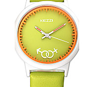 KEZZI® new arrvial student fashion leather japan movement watch 1515