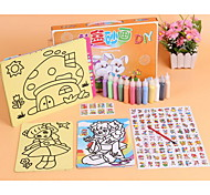 Players Naughty Children's Educational Toys DIY Handmade Strange New 12 Color Sand Painting Gift Set