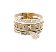 Bracelet Charmes pour Bracelets / Bracelets Wrap / Bracelets en cuir Cristal / Alliage / Cuir / Strass Formé CarréeGland / Mode / Bohemia