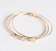 1set Star Shape Bangles Bracelet
