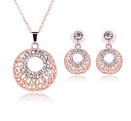 Jewelry Set Adjustable Adorable Gift Boxes & Bags Golden Necklace/Earrings Set Wedding Party Daily Casual 1set Necklaces EarringsWedding