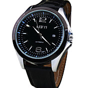 Men's Casual Leather Band Auto Mechanical Watch