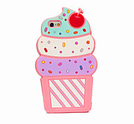 3D Cake Silicone Case for iPhone5/s/SE for iPhone 6s/6/6s Plus/6 Plus