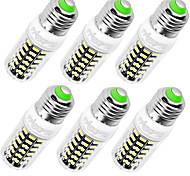 YouOKLight 6PCS High Luminous E27 E14 220V 64*SMD5733 LED Corn Bulb 7W Spotlight LED Lamp Candle Light