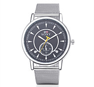 Men's Fashion Round Wristwatches Glass Analog Quartz Watch Casual Business Style Relogio Masculino