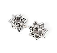 36pcs beadia plata antigua granos de la aleación del casquillo de 10x4mm forma de la flor granos del espaciador