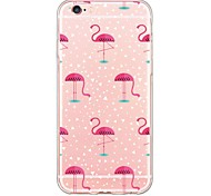 Flamingos  Pattern TPU Soft Ultra-thin Back Cover Case Cover For Apple iPhone  6 Plus / iPhone 6s/6 / iPhone 5s/5