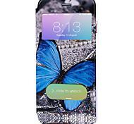 Corpo Completo Auto Dormir/Despertar Animal Couro Ecológico Duro Case Capa Para Apple iPhone 6s Plus/6 Plus / iPhone 6s/6