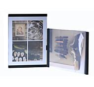 "New Arrival Leggyhorse 4"" x 6"" Flexible Transparent Acrylic Photo Frame Simple Set,White/Black Color, Set of 2 Frames"