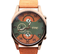 Men's Fashion Leather Band Quartz Casual Watch