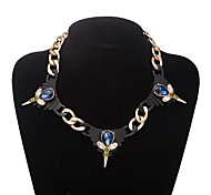 Xu Women 's Elegant Fashion Personality Leisure Glass Alloy Necklace