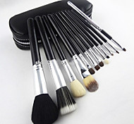 High Quality Foreign Tube Hit 12 Gold And Silver Zipper Bag Makeup Brush