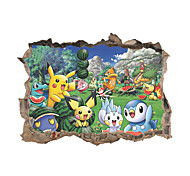 3D Wall Stickers Wall Decals Style Cartoon Animal Game PVC Wall Stickers