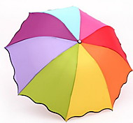 Rainbow Umbrella Folding Umbrella Uv Sun Shade Umbrella Advertising Umbrella Folded Umbrella Solid