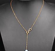 Ожерелье Ожерелья с подвесками Бижутерия Повседневные Модно Сплав Золотой 1шт Подарок