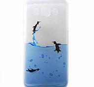 Penguins Swimming Pattern Material TPU Phone Case for Samsung Galaxy J3 J5 J7 J1(2016) J510 J710 G530