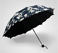 Зеленый Складные зонты Солнечный и дождливой Металл / Plastic Lady