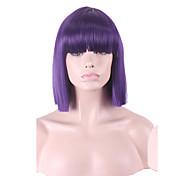 mulit cor da moda venda quente branco cor roxa bobo perucas sintéticas