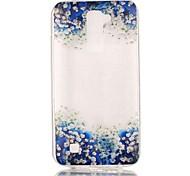 Orchid 3D Relief Feeling Super Soft Pack Transparent TPU Phone Case for LG K7/K8/K10