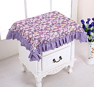 Purple Colocasia Korean Rural Multi-purpose Towel Bedside Table Cloth