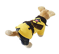 Cat / Dog Costume / Clothes/Jumpsuit Yellow Winter / Spring/Fall Britsh Cosplay, Dog Clothes / Dog Clothing