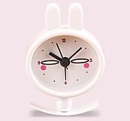 (Modèle aléatoire) enfants cadeau lapin fille poche horloge mignonne petite créatif métal portable réveil de peinture
