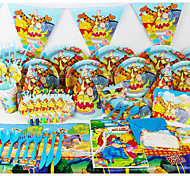 Luxury Winnie the Pooh 78pcs Birthday Party Decorations Kids Evnent Party Supplies Party Decoration 6 People use