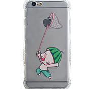 Rückseite Stoßfest Spielen Sie mit Apple-Logo TPU Weich Fall-Abdeckung für Apple iPhone 6s Plus/6 Plus / iPhone 6s/6