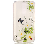 TPU + IMD Material Chrysanthemum Pattern Painted Relief Phone Case for LG K10/K8/K7/K4
