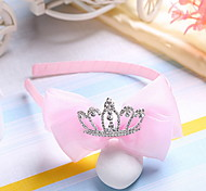 Korean Flower Girl's Fabric Tiaras Bow  Headbands